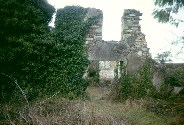 Photograph, ruins, old Wesleyan chapel, Wheal Rose, Scorrier, Redruth