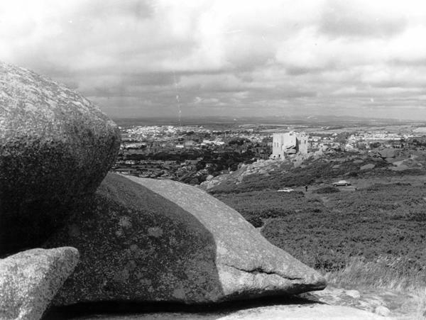 Photograph, view from Carn Brea