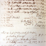 Photograph of entry in Redruth Brewery account book showing a payment to William Murdoch for his finings recipe on November 20th 1809.