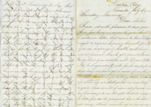 Handwritten letter from Richard Scoble to his mother, 1874.