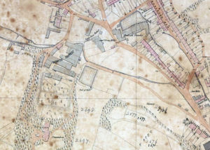 Extract from a plan of the town of Redruth from 1855.