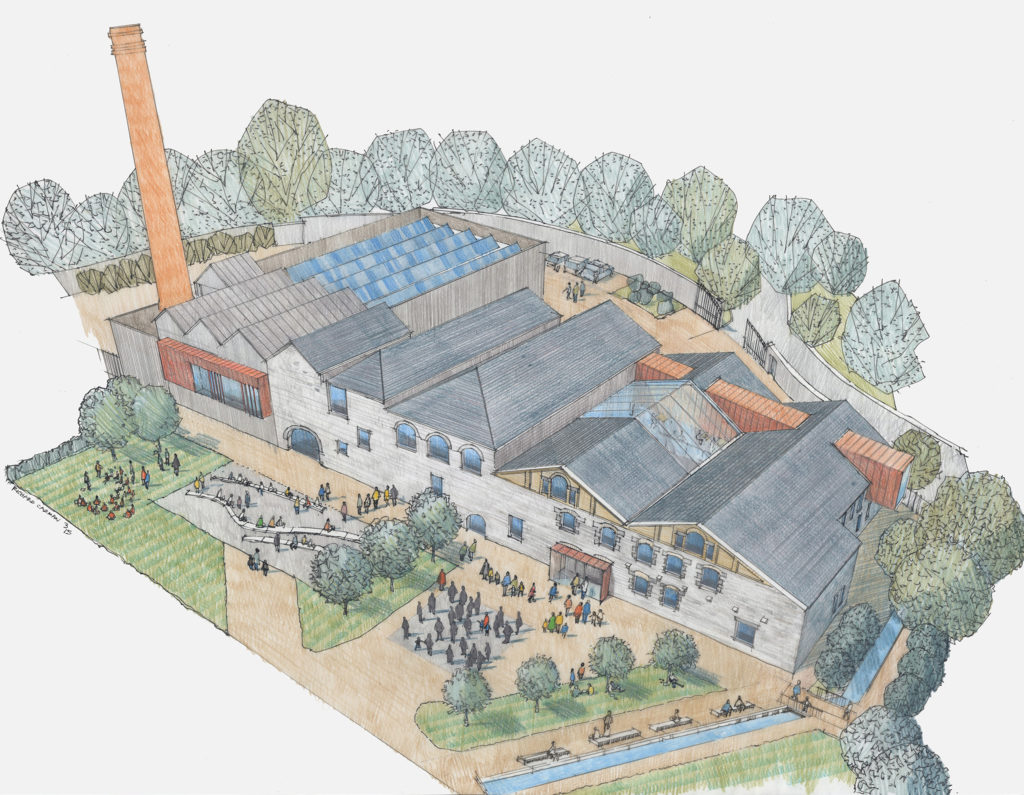 Illustration of architect's impression of the finished Kresen Kernow site.
