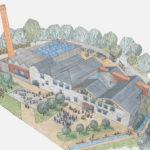 Illustration of architect's impression of the finished Kresen Kernow site.