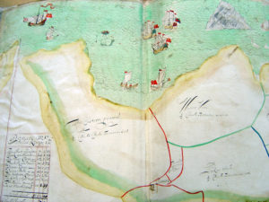 Extract from 1690 estate plan of Veryan and Ruan Lanihorne.