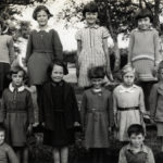 Photograph of pupils at Duloe Parochial School, 1937.