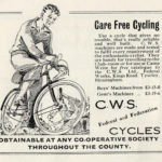 A cutting from a 1936 newspaper advertising CWS Cycles.