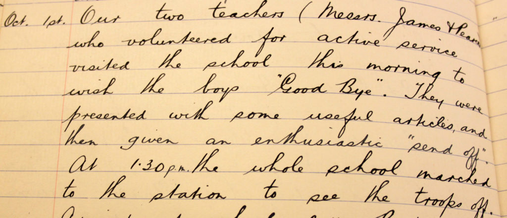 Entry from a log book from Liskeard Council School.