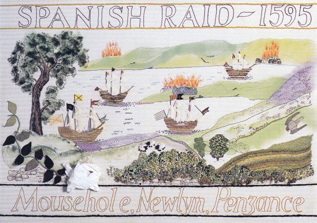 The 'Spanish Raid' Cornwall Tapestry.