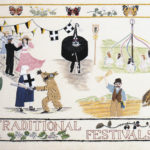 Image of the 'Traditional Festivals' Cornwall Tapestry.