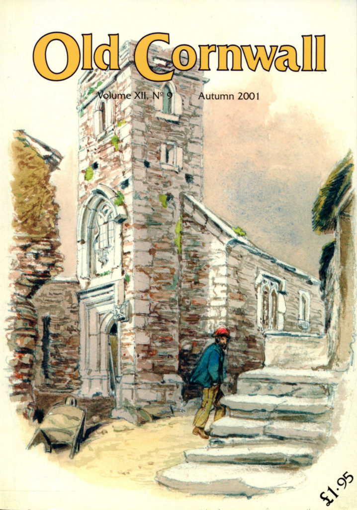 Image of the front cover of Old Cornwall journal, Volume 12 Number 9, Autumn 2001