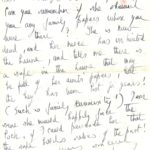 Extract of handwritten letter from Daphne du Maurier.