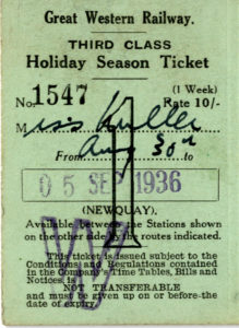 Scan of a railway ticket.