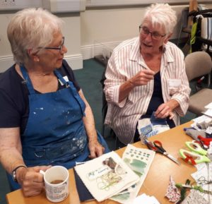 Photo of two ladies at ArTchive workshop.