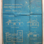 Blueprint for a bungalow.