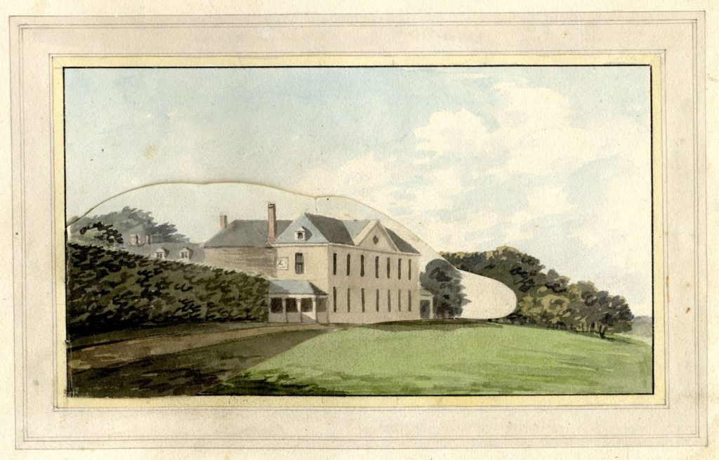 Watercolour painting from Repton's red book.