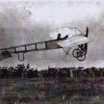 Postcard of early aircraft at Penzance.