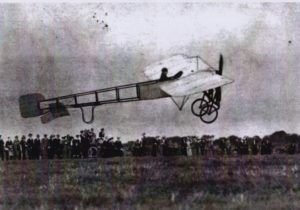 Postcard of early aircraft at Penzance.