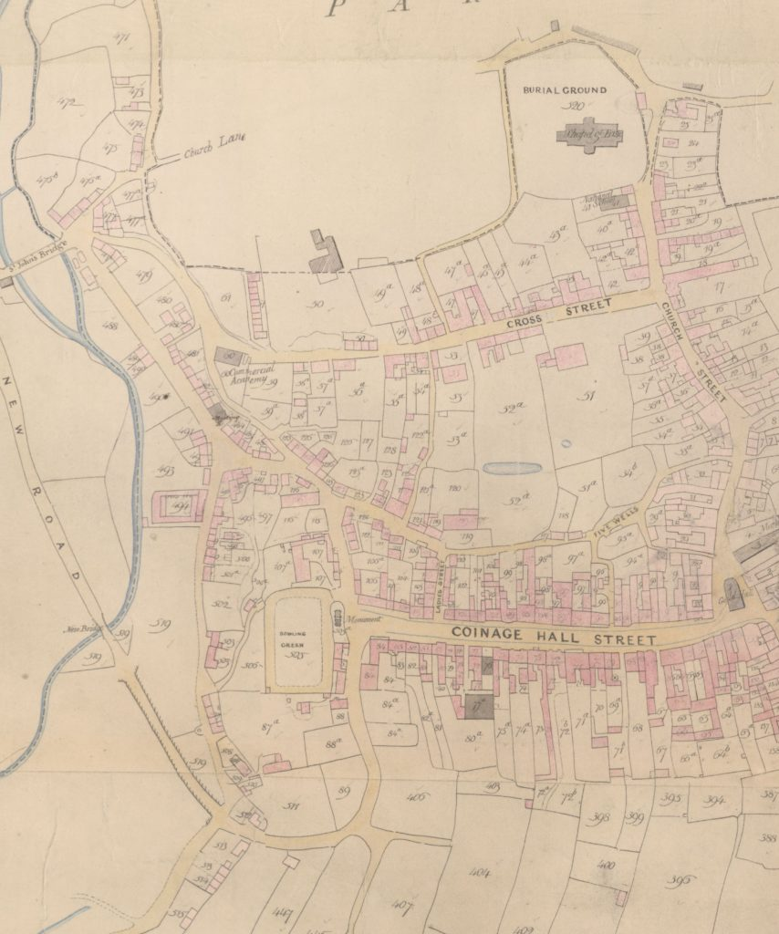 Extract from Helston tithe map.