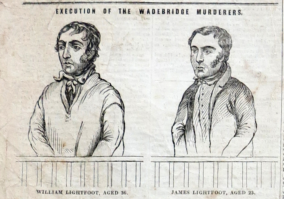 Illustration of Lightfoot Brothers from a newspaper.
