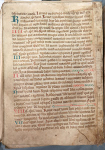 Scan of page from priory office book, c1500.