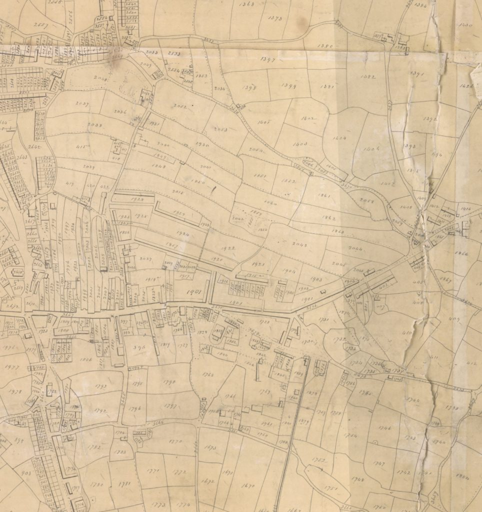 Extract from Redruth tithe map