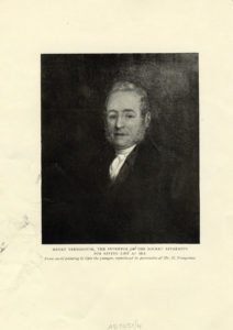Printed black and white copy of oil painting of Henry Trengrouse.