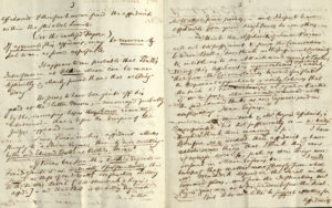Scan of handwritten letter.