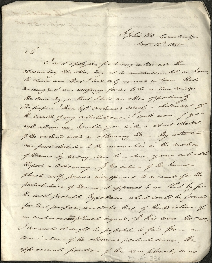 Scan of handwritten letter.