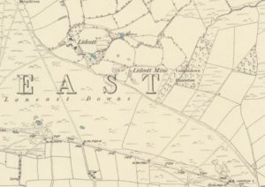 Extract from map showing Laneast.
