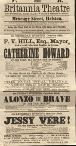 Scan of bold printed playbill