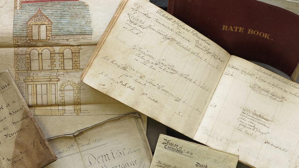 Colour photograph montage of manuscripts.