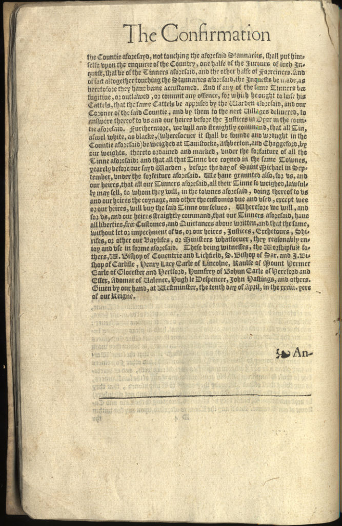 Scan of printed charter.