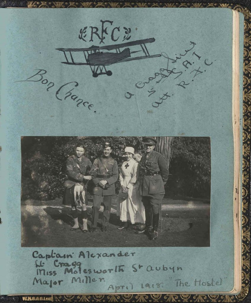 Page from a photograph album.
