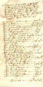 Scan of handwritten inventory.