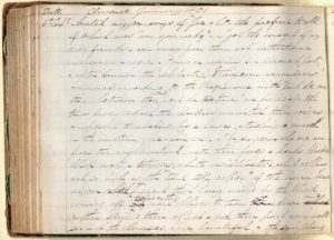 Photograph of a page from a diary.