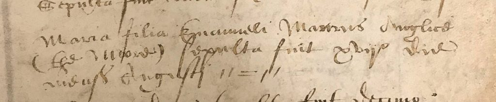 Extract from handwritten parish register