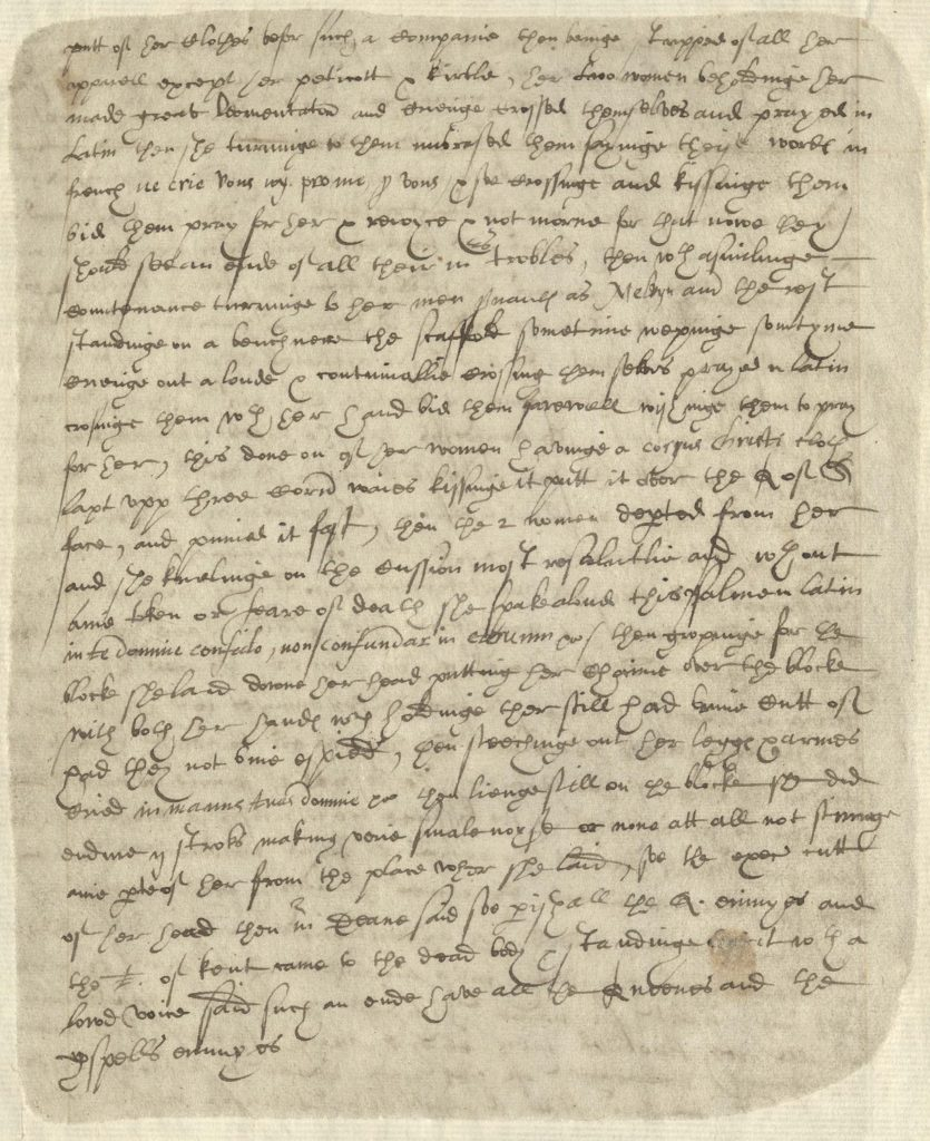 Scan of handwritten Tudor document.