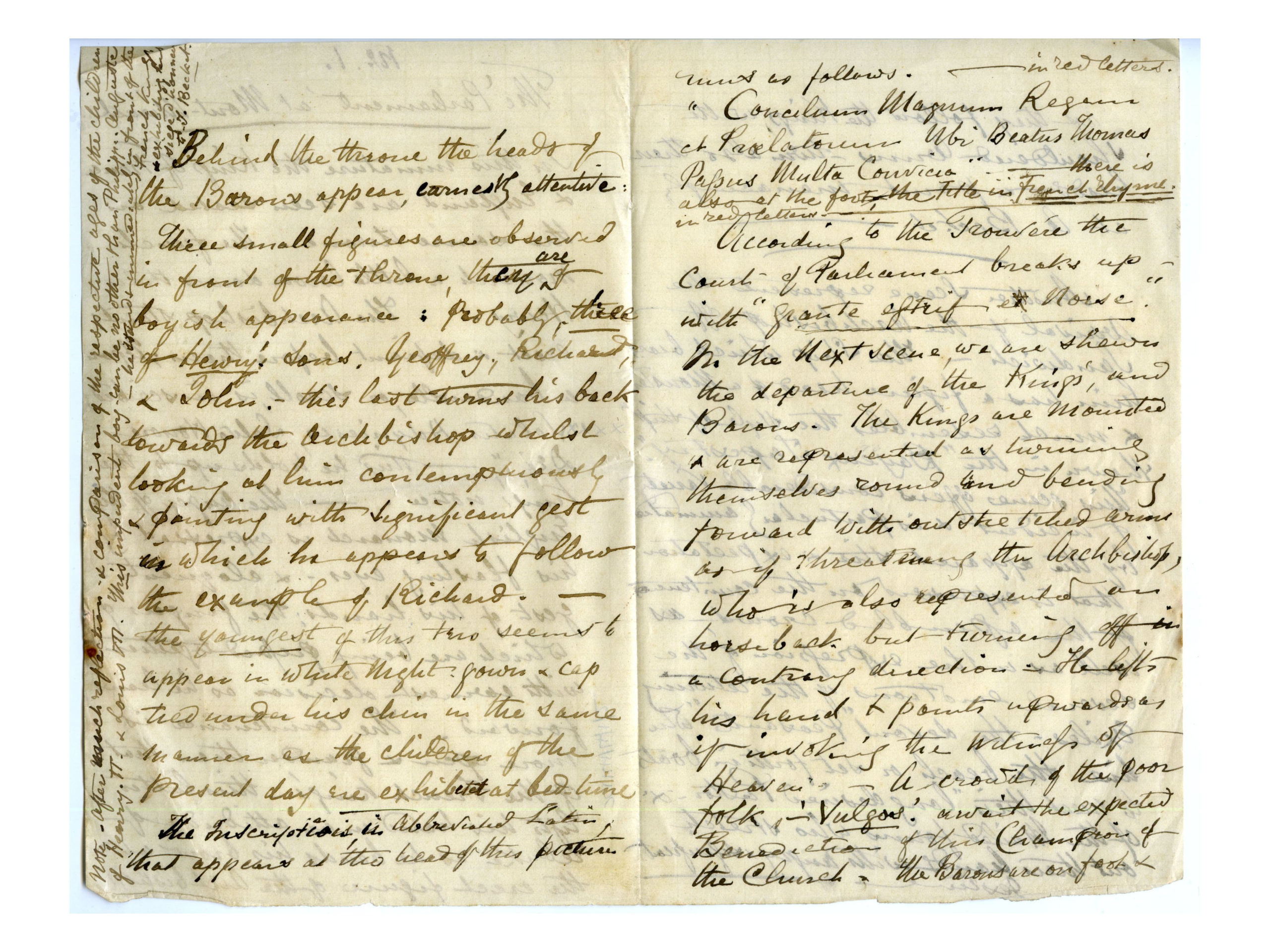 Old letter regarding Henry Jenner