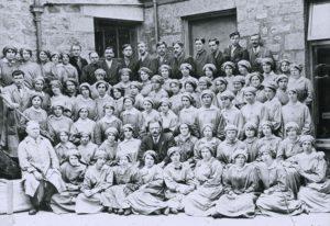 Portrait photograph of women.
