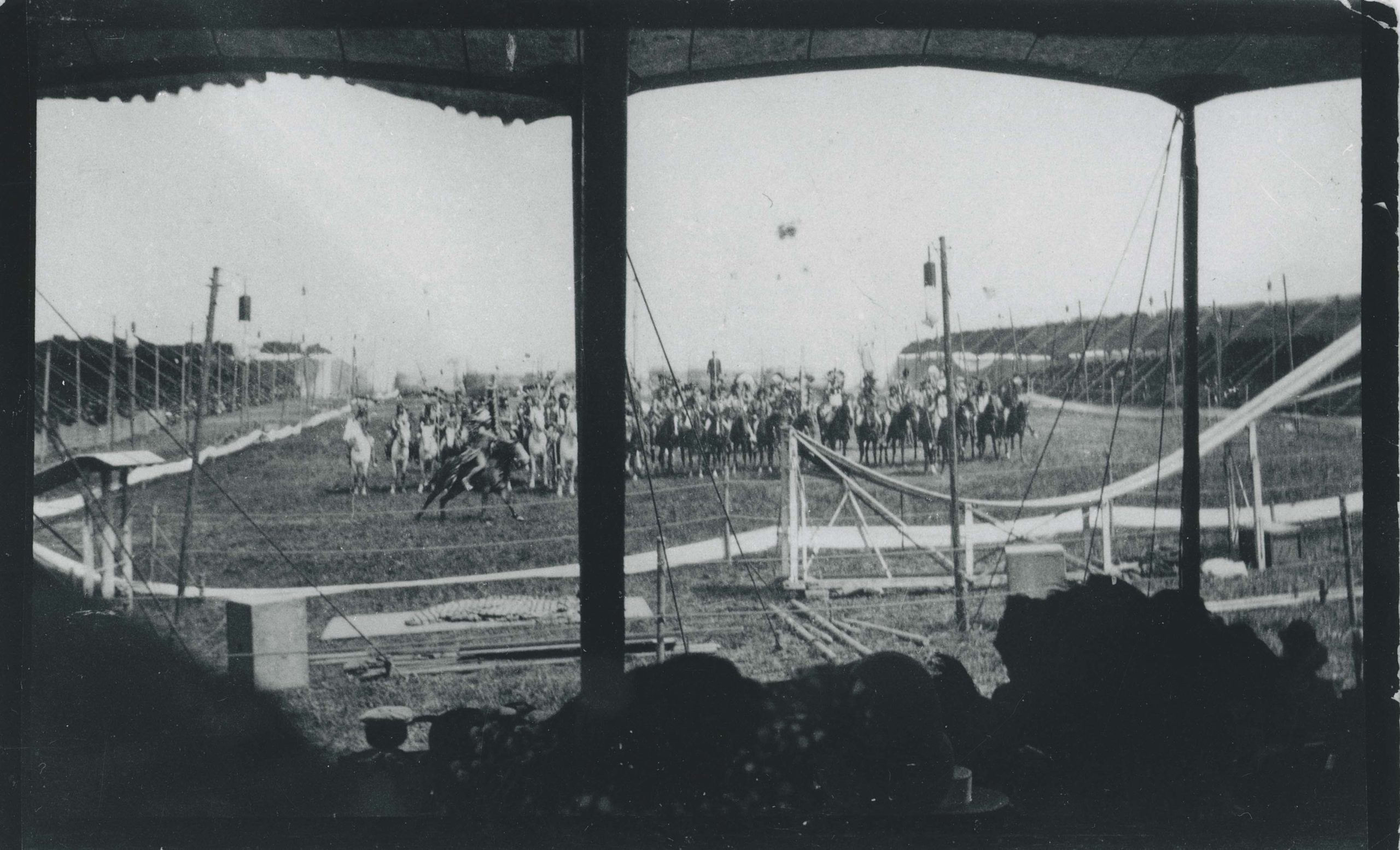 Photograph of a Wild West Show.