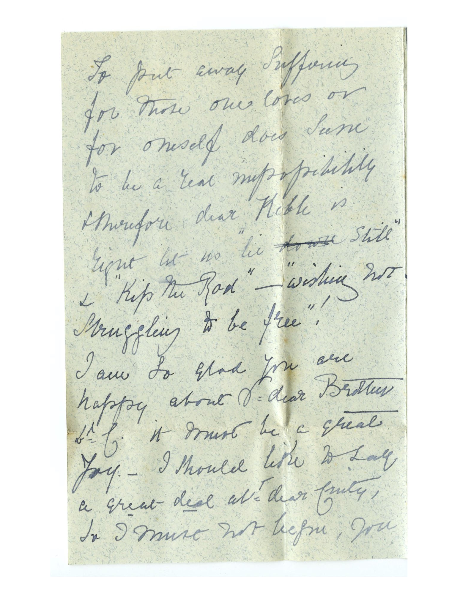 Old letter regarding Mother Julian