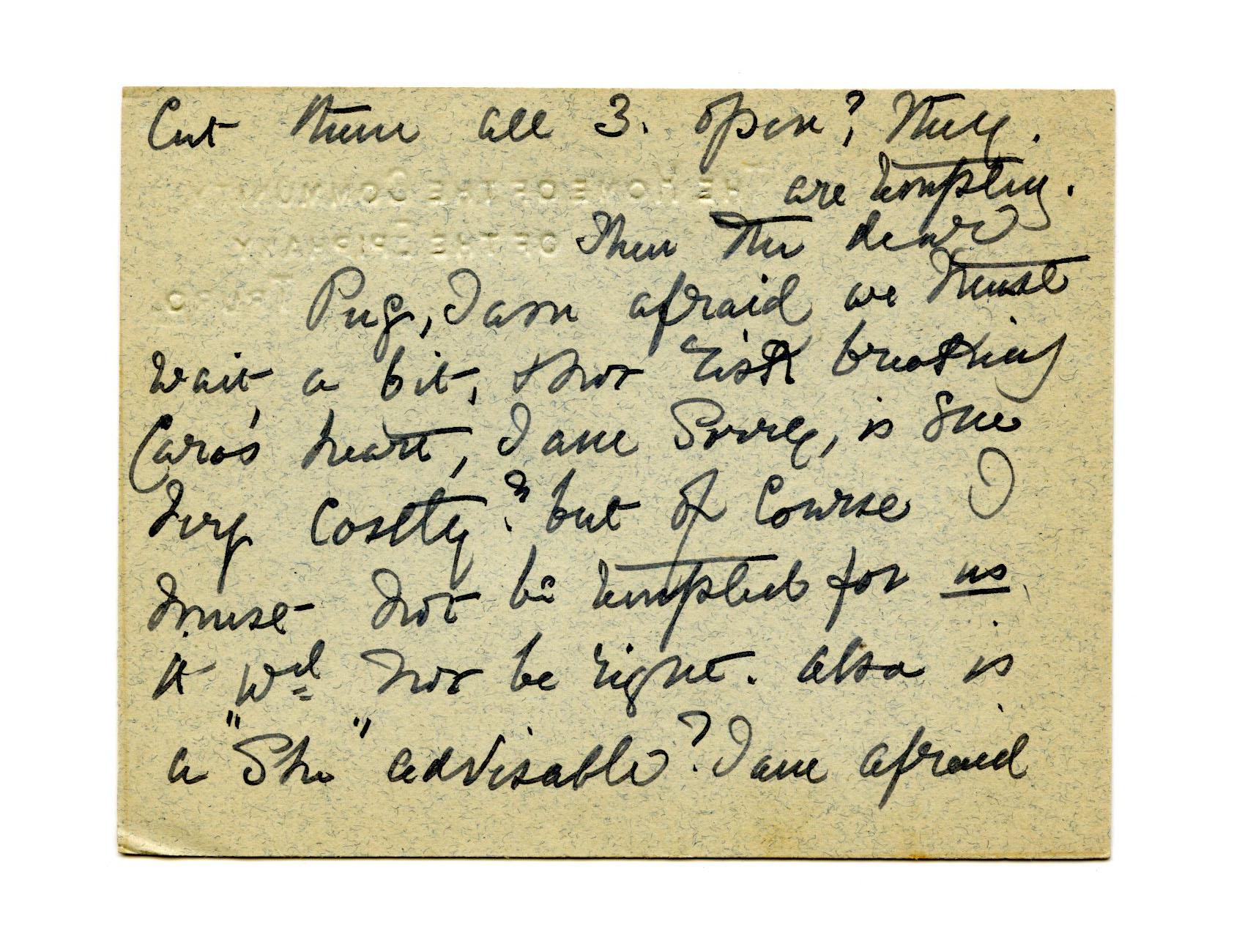 Old letter regarding Mother Julian