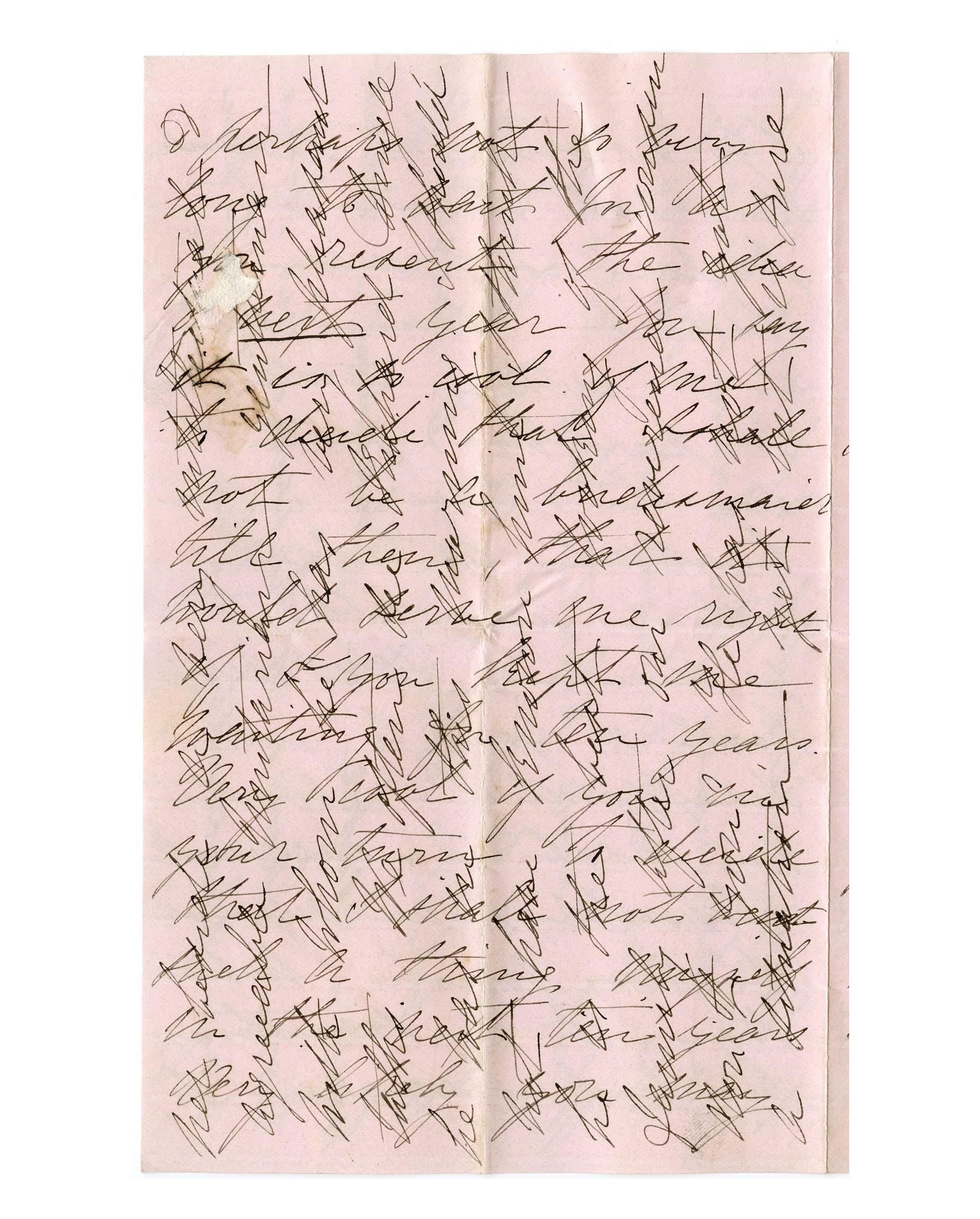 Old letter regarding the Adams family