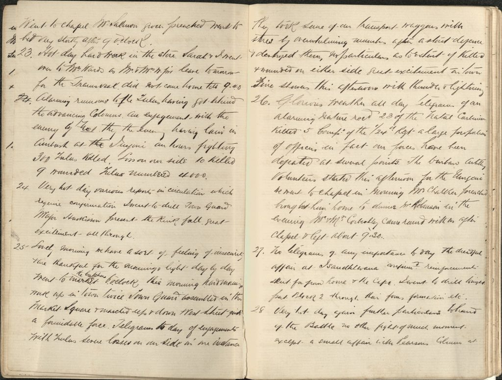 Extract from an old diary about migration