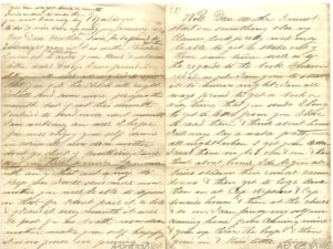 Scan of an old letter about migration