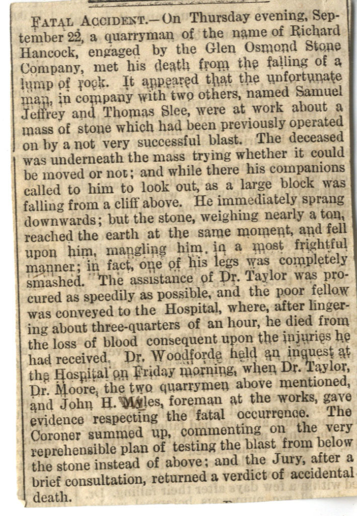 Scan of old newspaper article