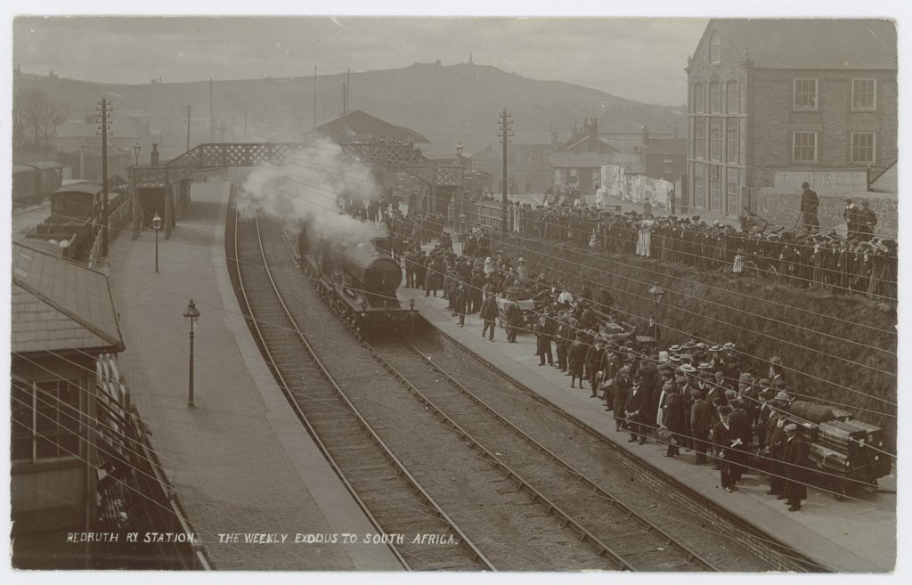Old photograph of railway station