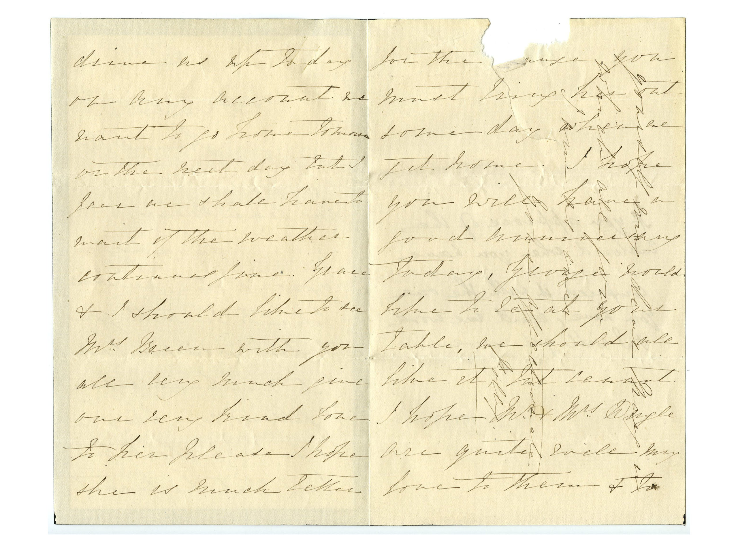 Old letter regarding the Adams family