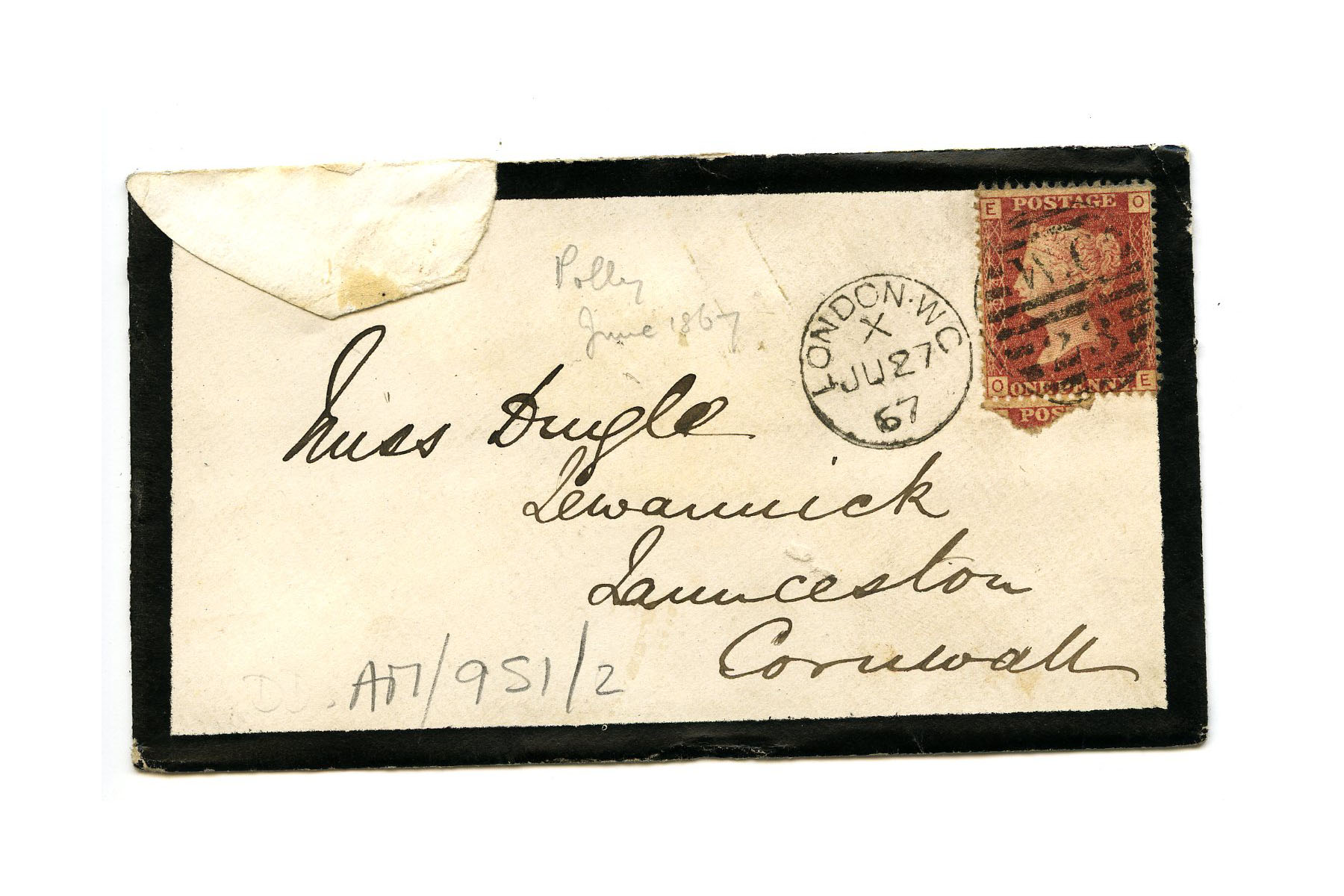 Old envelope regarding the Adams family