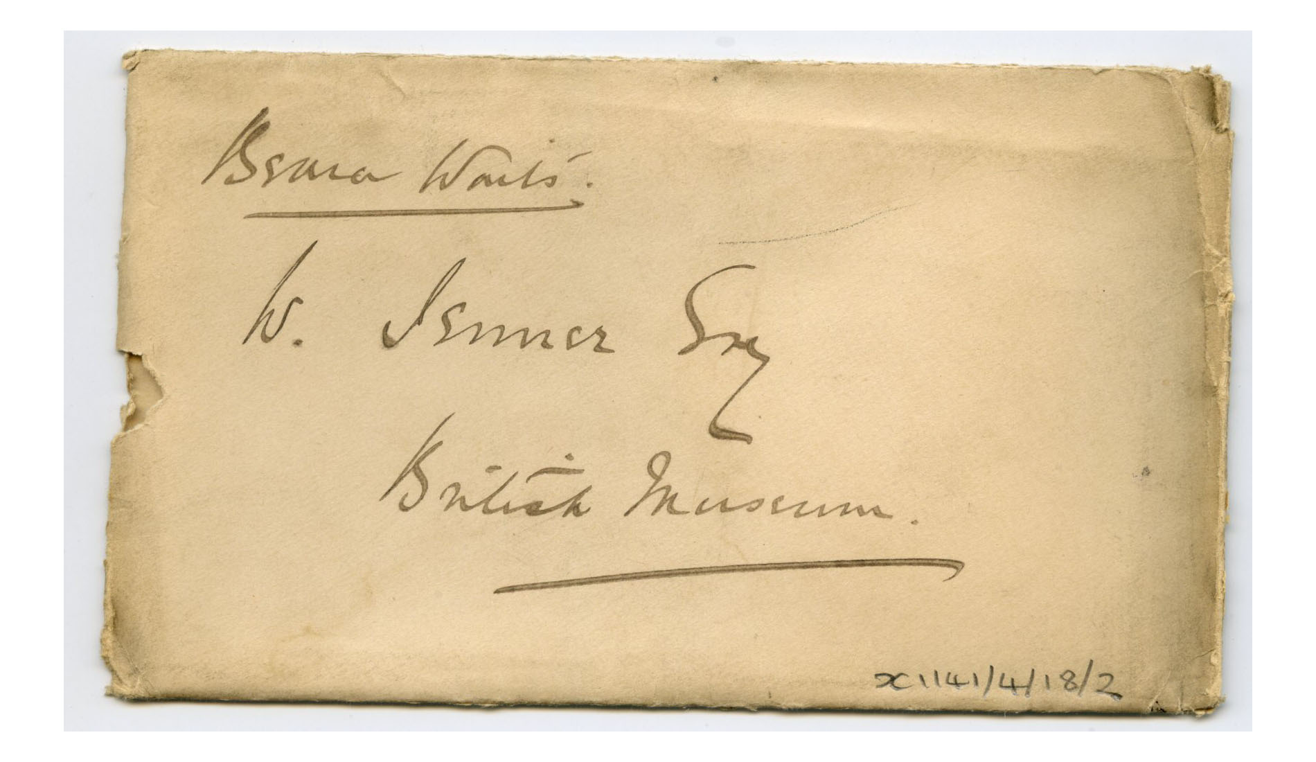 Old envelope regarding Henry Jenner